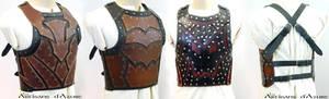 Leather breastplate prototype