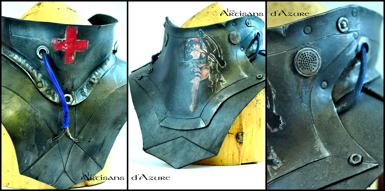 WIP: Power Armor Gorget by ArtisansdAzure