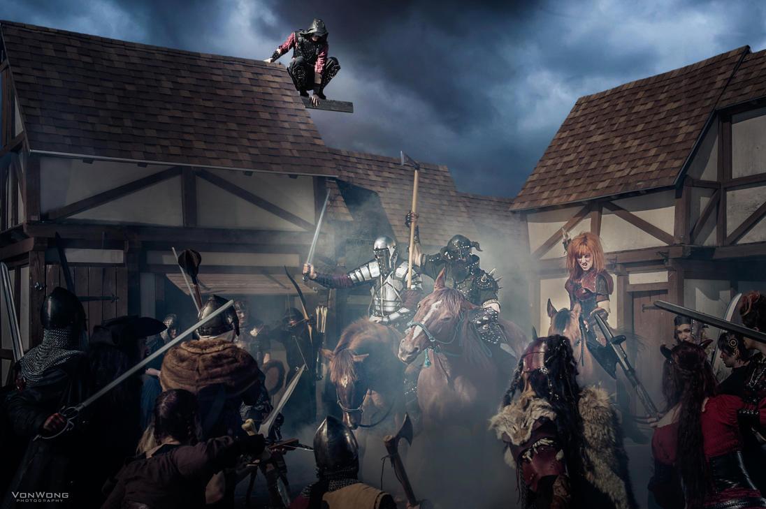Les Heros d'Azure! Warhorse by ArtisansdAzure