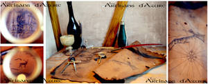 Once upon a larp in the Tavern...A leather map