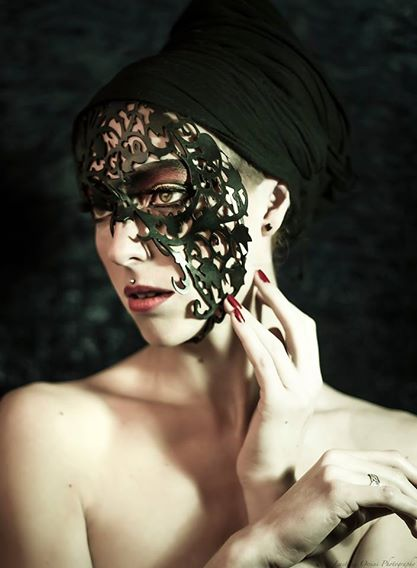 Black beauty with Vine Mask by ArtisansdAzure