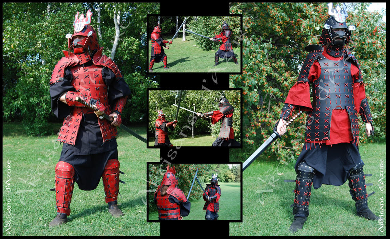 LARP Samurai Leather Armor - Armure samurai GN by ArtisansdAzure