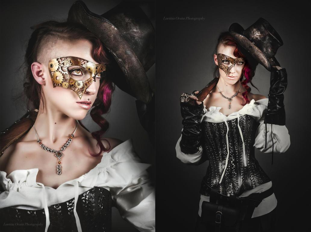 Masked Steam Pirate by ArtisansdAzure
