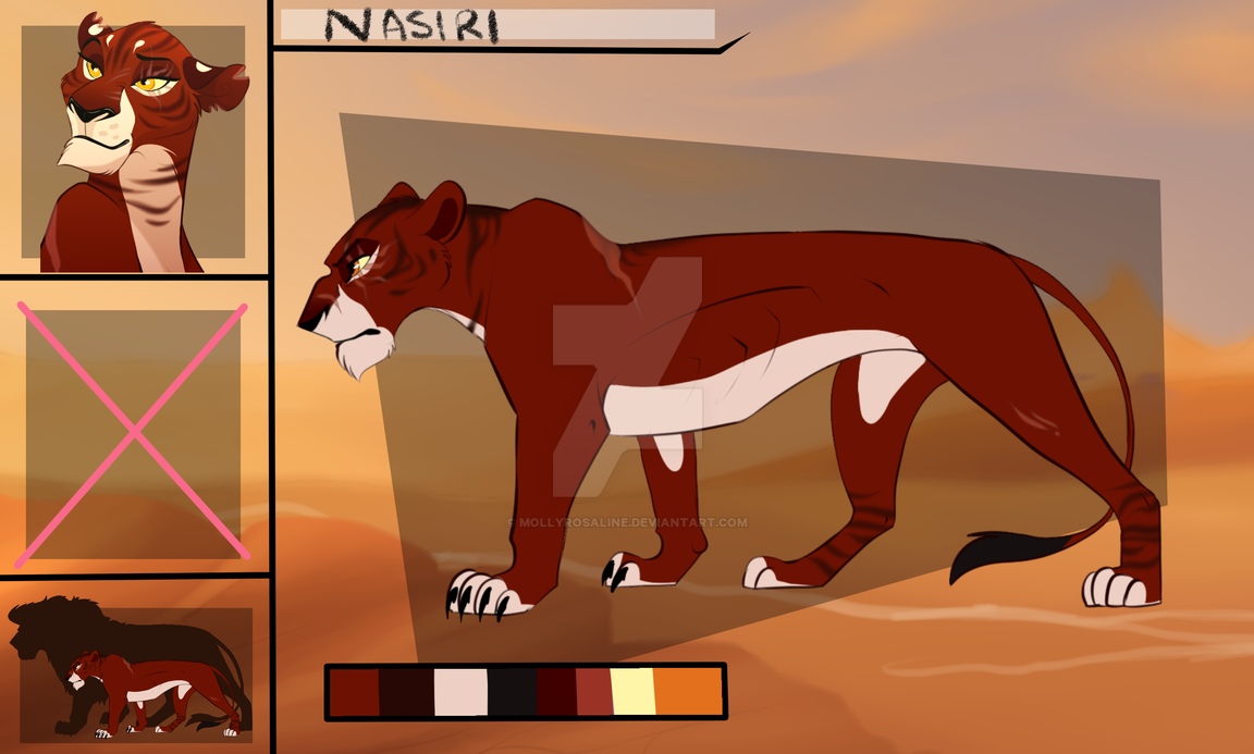 Nasiri Reference - Prides of Eneo by MollyRosaline