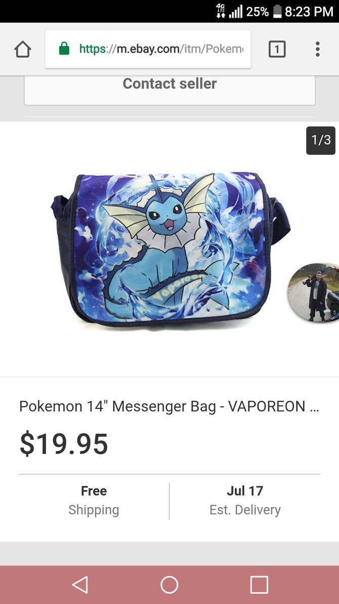 Vaporeon Messenger bag by RikkuWolfsBane