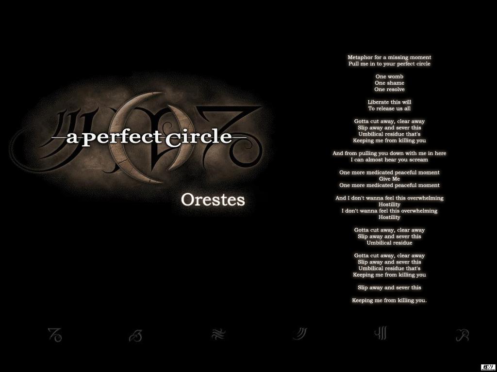 A Perfect Circle - Orestes with lyrics - YouTube