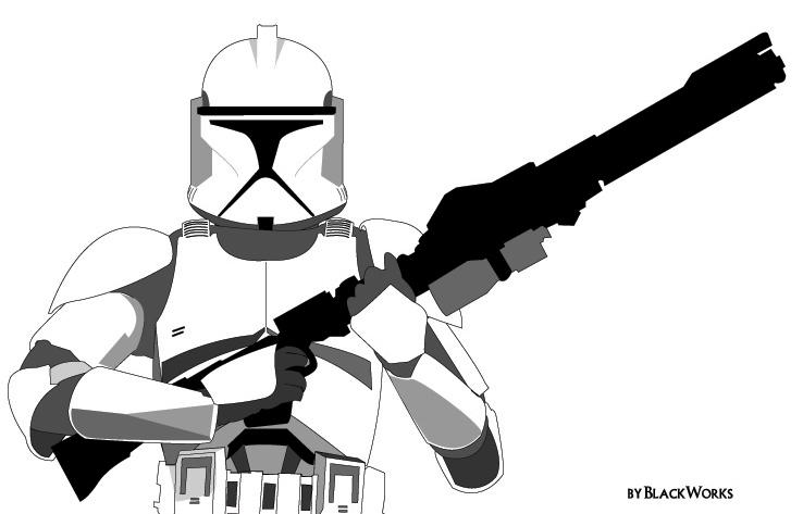 Clone Trooper Helmet Vector Clone Trooper by Black...