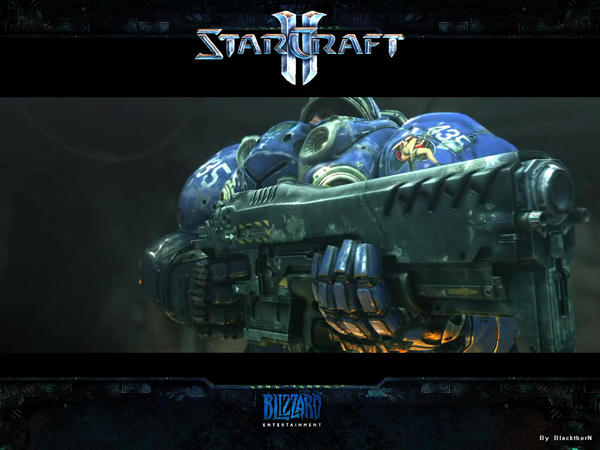 Starcraft 2 Marine by BlackW0rks