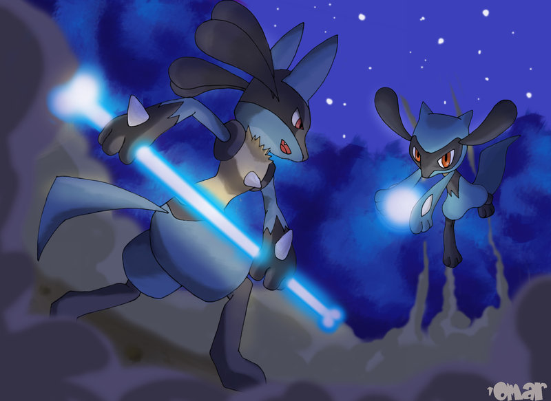 Riolu And Lucario Training By Coolcole53 On DeviantArt