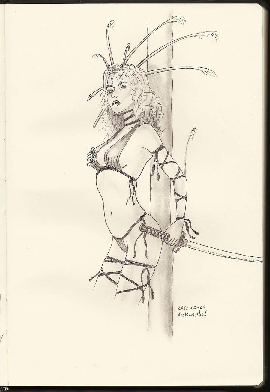 Rough Sketch 03 BW by SethApophis