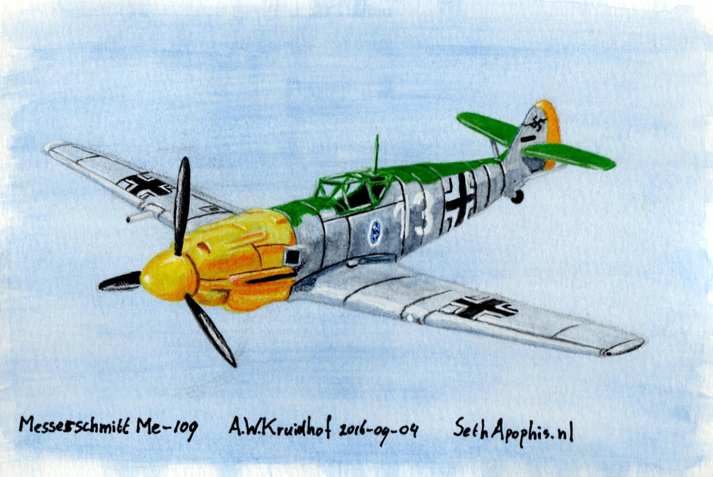 2016-09-04-Messerschmitt-Me-109 by SethApophis