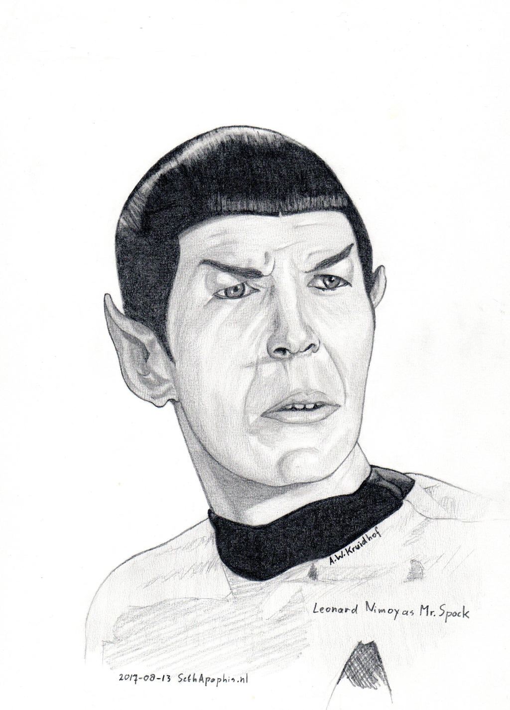 2017-08-13-Portrait Leonard Nimoy aka Mr Spock by SethApophis