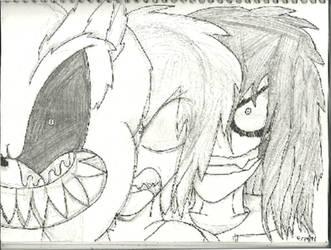 Sonic.EXE, Herobrine and Jeff the Killer (Sketch) by CandySugarSkullGirl9