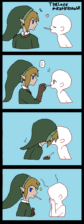 OC and Link Pocky thief collab *Open* by CreepypastaGirl1001