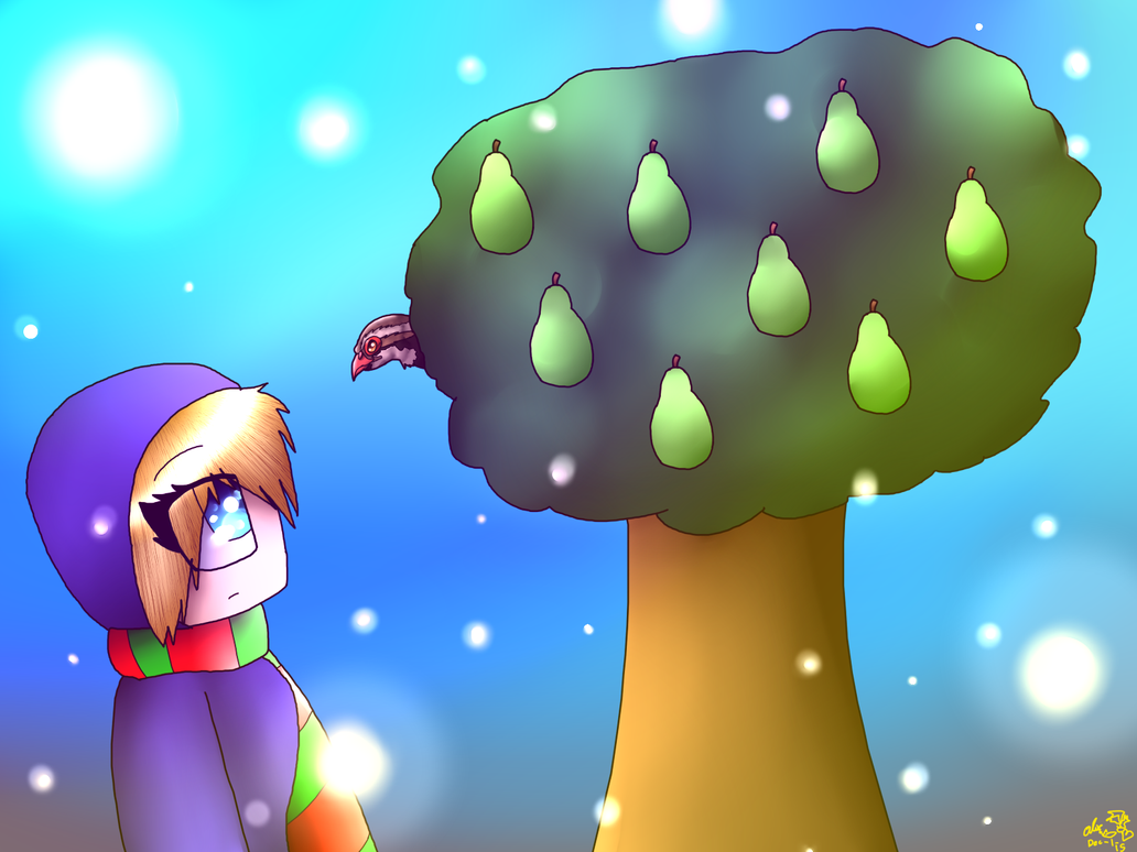 Day 1 A Partridge In Pear Tree Speedpaint By CandySugarSkullGirl9