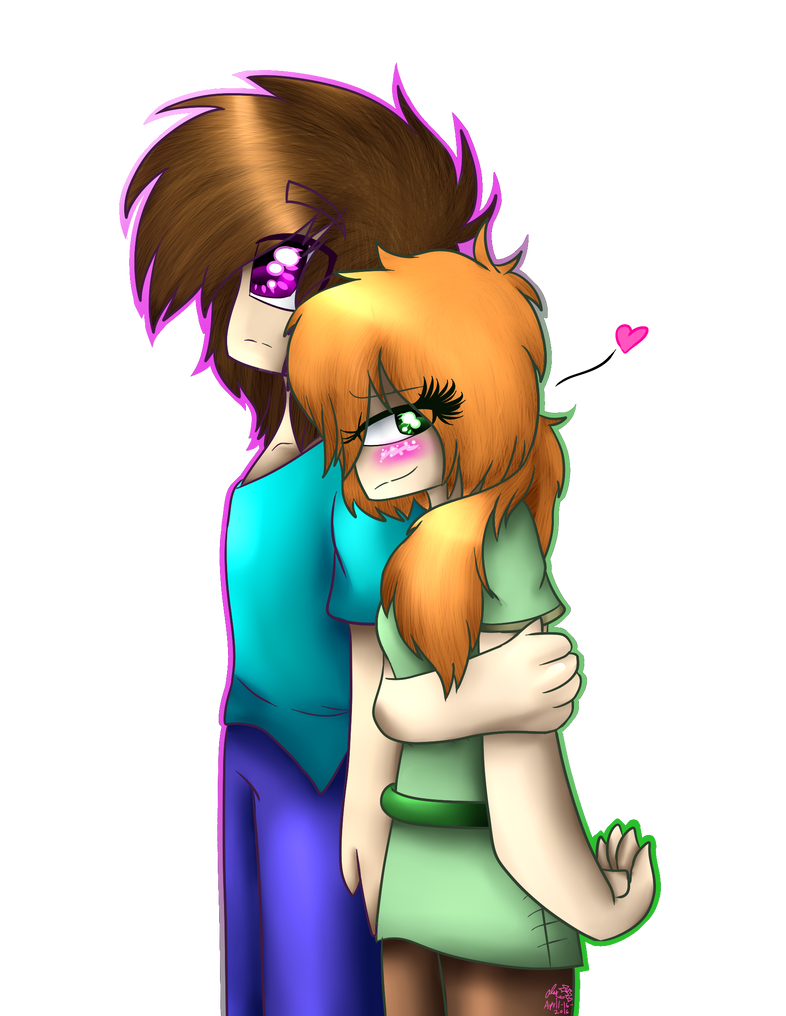 Steve and Alex _ Minecraft artwork by xLudo8D on DeviantArt