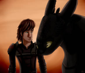 Hiccup and Toothless by CandySugarSkullGirl9