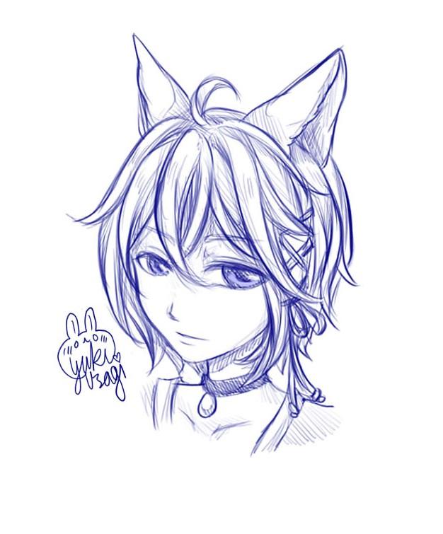 Fox Boy Head Sketch by xXYukiNoUsagiXx