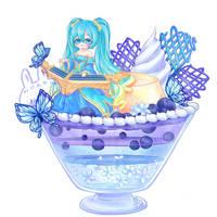 LoL Desserts Sona's Blue Paradise Parfait