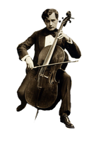 Vintage Cellist cut out by SolStock