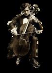 Vintage Cellist cut out