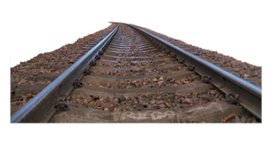 cut out train tracks