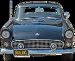 cut out vintage blue car