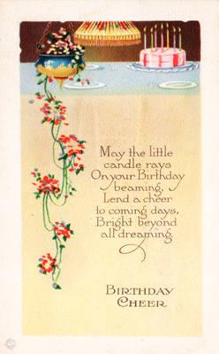 Birthday Cheer Vintage card