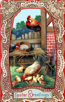 Easter Chicks vintage