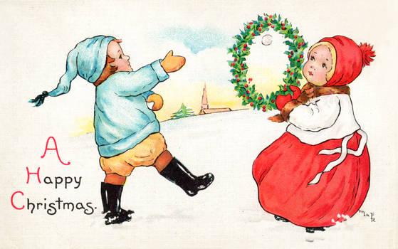 Happy Xmas vintage card