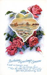 Rose Birthday Vintage card