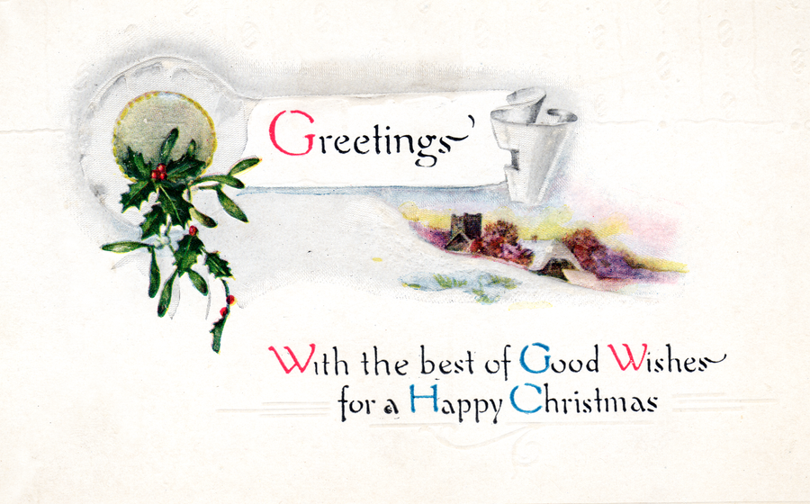 Vintage Christmas Greetings by SolStock