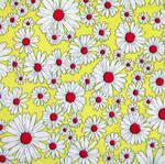 Vintage fabric daisy