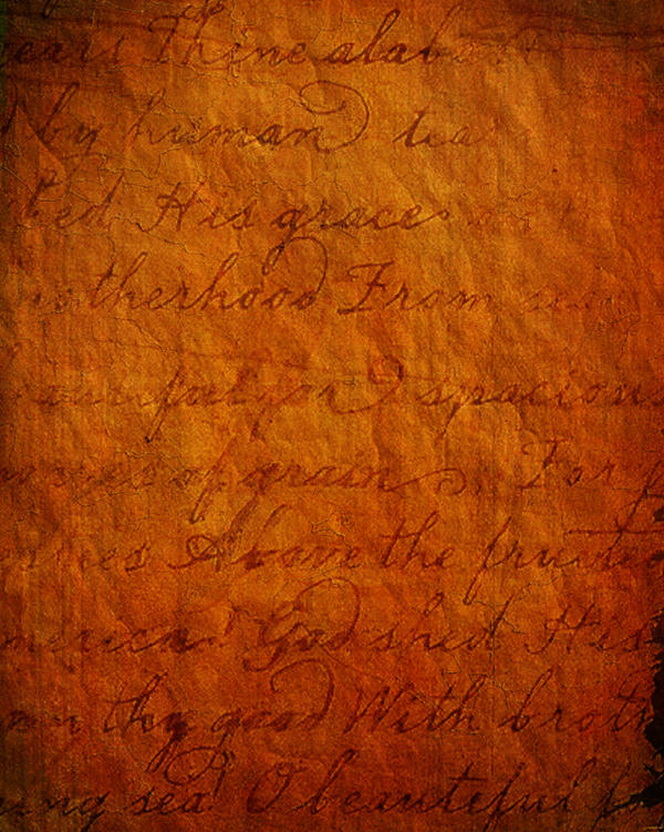 Antique Script Texture by SolStock