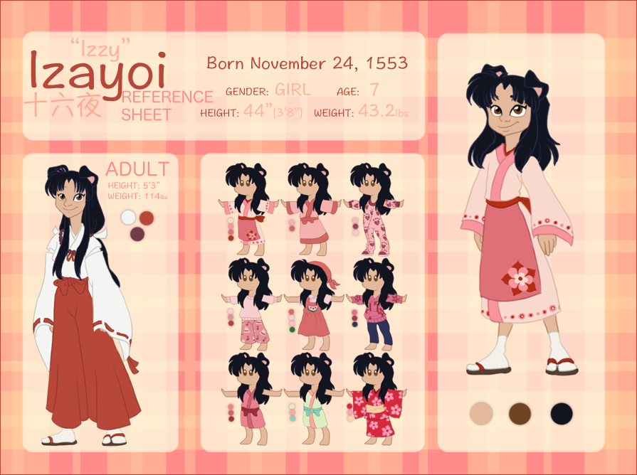 IZAYOI 'IZZY' Character Reference and Biography by NattiKay