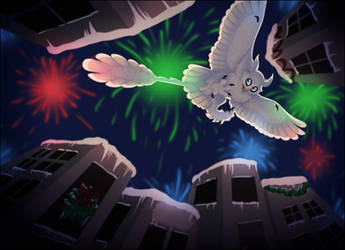 very scary fireworks (perspective is hard II) by NattiKay