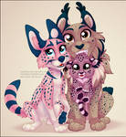 Spotty Feline Family