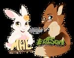 Mae and Edison Badges