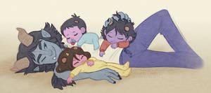 pastel snuggle pile