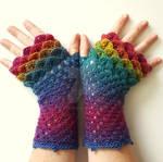 Rainbow Dragon Gloves