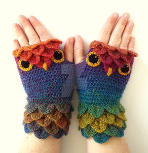 Jewels Owl Gloves