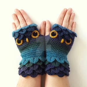 Twilight Owl Gloves
