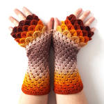 Ashes and Flames Dragon Gloves