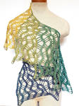 Meandering path scarf