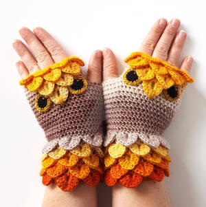 Golden Owl Gloves