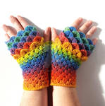 Rainbow Bright Dragon Gloves
