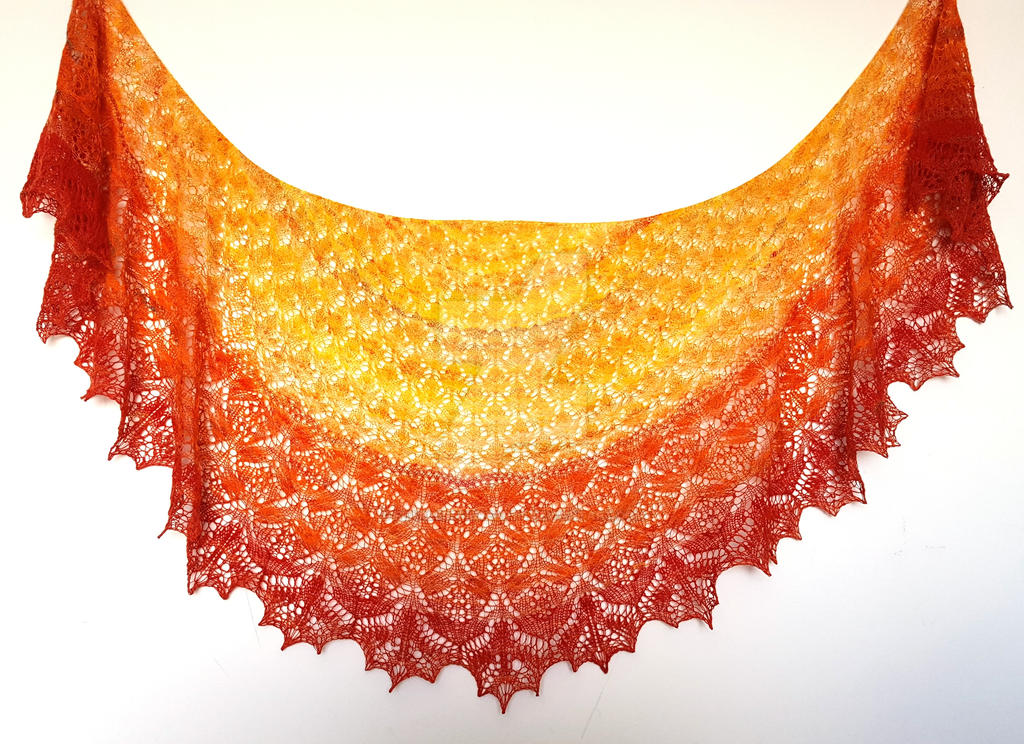 Wedding Belle Handspun Shawl by FearlessFibreArts