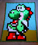 Yoshi Blanket by FearlessFibreArts