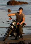 taylor on a motobike
