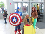 Classic Captain America and the X-Men